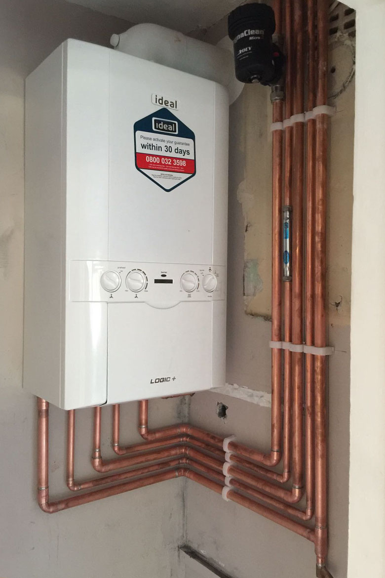 Ideal boiler installation in Waterlooville by Panda Plumbing